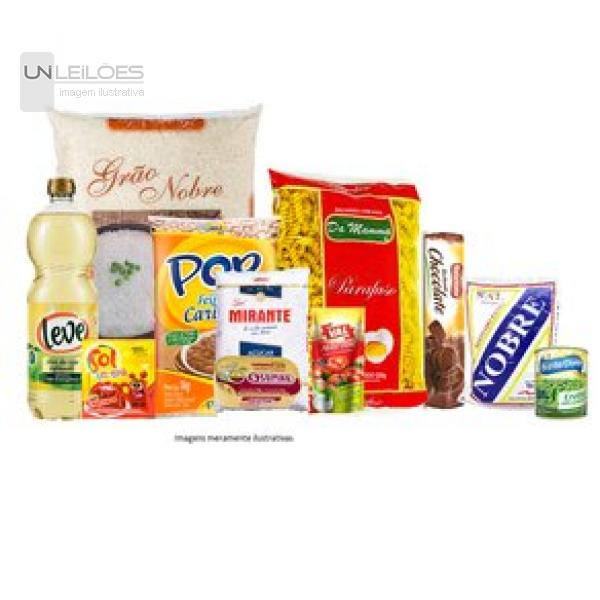 05 (cinco) Cestas Básicas Super Econômicas para doação- marca Qualy