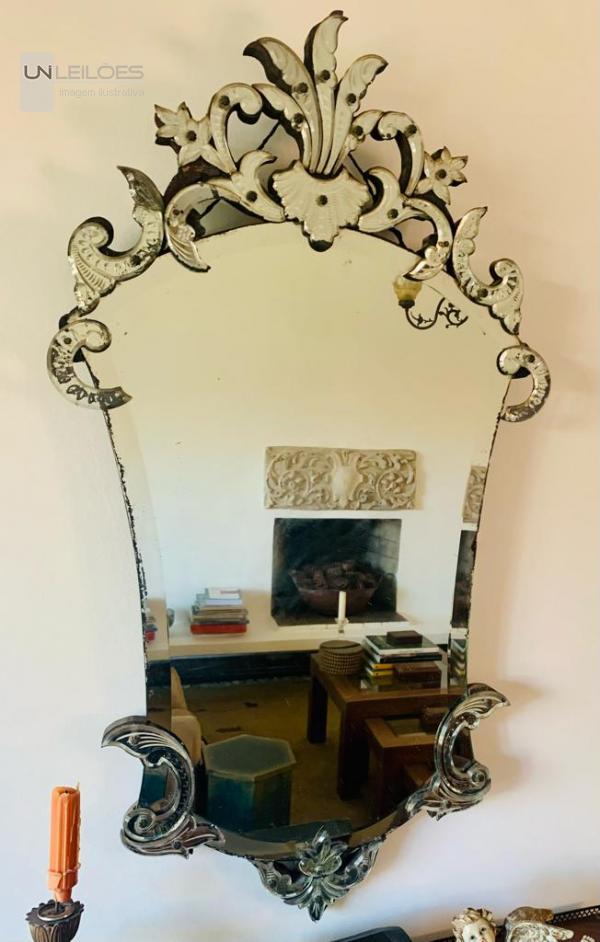 Espelho Veneziano em  cristal
